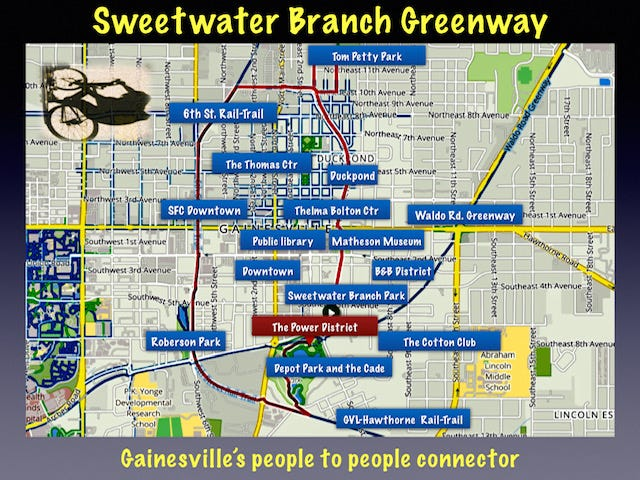 Advocates of the Sweetwater Branch Greenway envision a transformational project that would unite half a dozen or more neighborhoods.