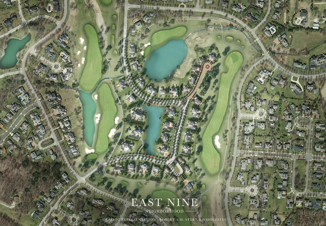 The New Albany Co. has proposed building 37 houses in the middle of  the east nine of the New Albany Country Club.