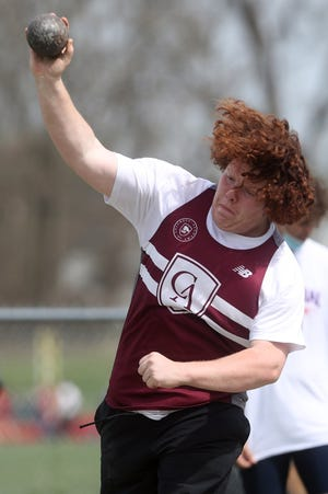 Columbus Academy senior Gabe Taub competes in the shot put during the Red Edwards Golden Eagle Relays on April 10 at Big Walnut. He also will throw the discus for the Vikings, who are led by first-year coach Ashlee Abraham.