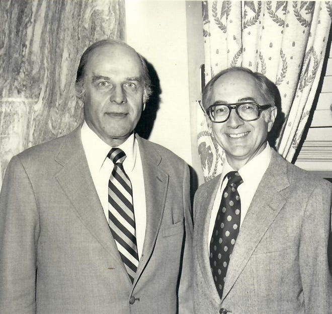 Sen. Gaylord Nelson, left, and William Cherkasky.