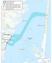 Orsted draws its power line proposal in an application to the federal Bureau of Ocean Energy Management.