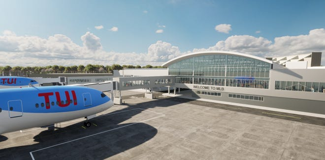 This artist's rendering shows the $61 million Melbourne Orlando International Airport passenger terminal expansion, which is designed to accommodate TUI's Boeing 787 Dreamliners.