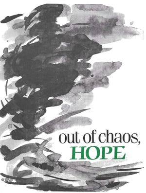 """Out of Chaos, Hope"" logo from the Coshocton Community Choir"