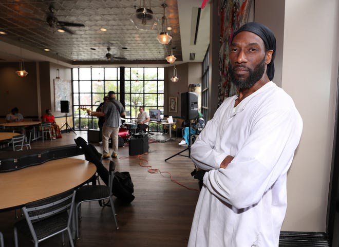 Jibriyll Izsrael, community organizer and co-founder of the Feast, organized their event at Chef's Space in Louisville, Ky. on Apr. 13, 2021.