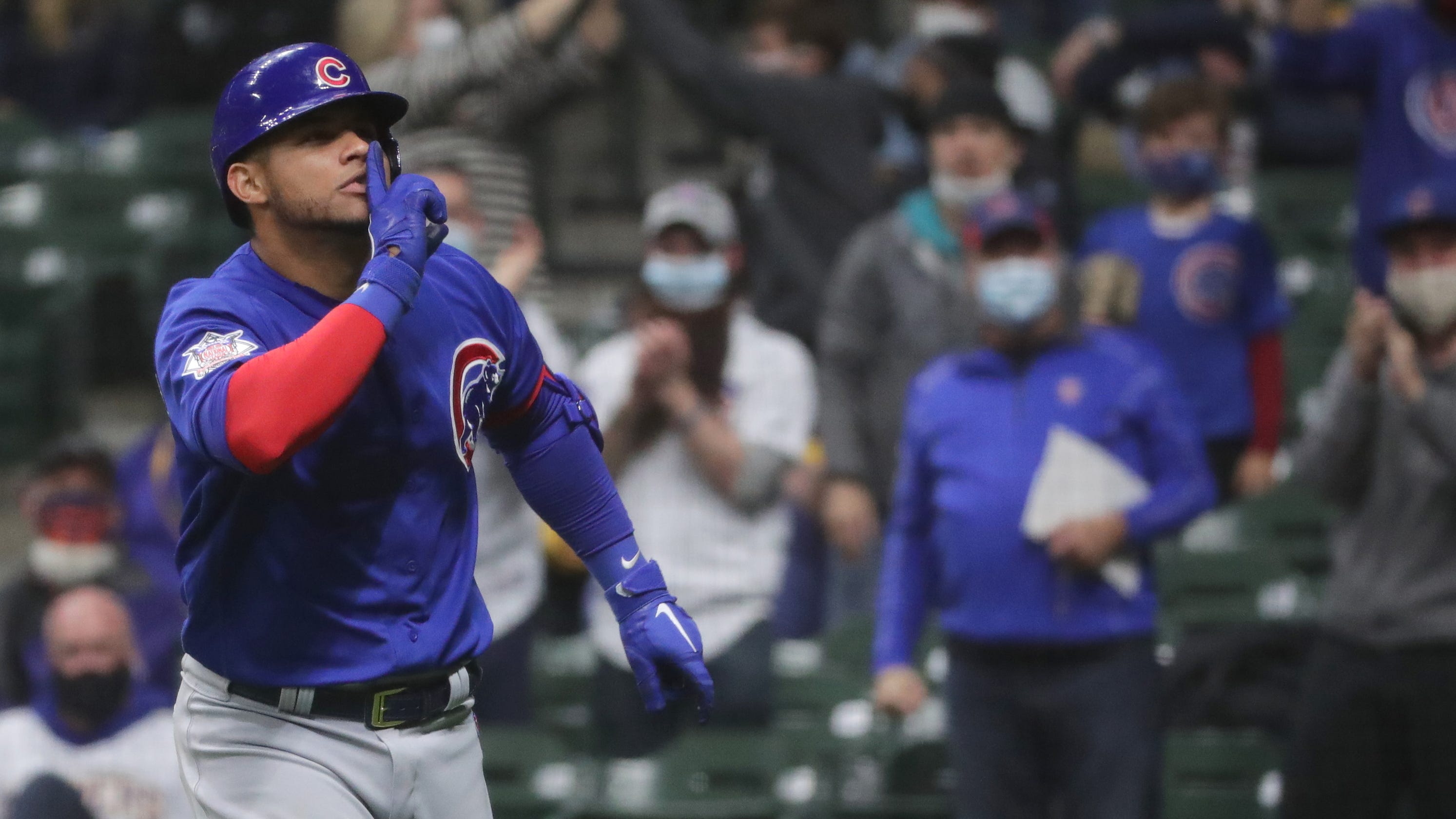 Brewers-Cubs rivalry heats after HBPs, Willson Contreras' home run