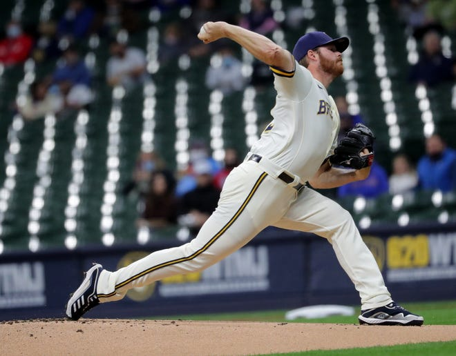 Brandon Woodruff delivered another solid start for the Brewers, allowing just one run on three hits with a walk, a hit batter and six strikeouts against the Cubs on Tuesday.