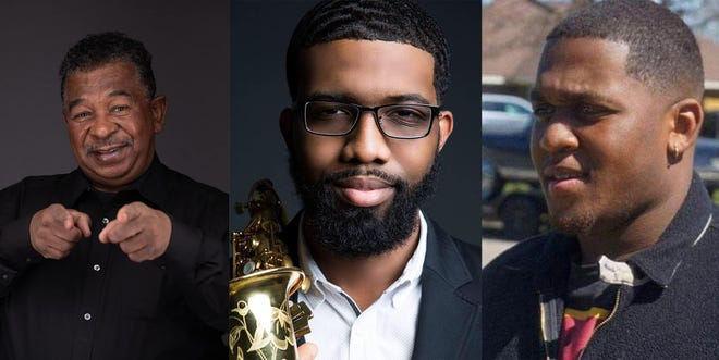 From left, Coleman Woodson Jr., Amon Robinson and Davis Boykin will perform Saturday at Montgomery's Oak Park during Jazz in the Garden.