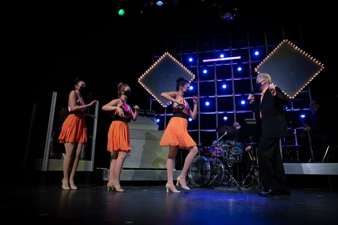 """""""Best of Bacharach"""" ensemble  perform a song by Bert Bacharach during dress rehearsal, Tuesday, April 13, 2021, at the Community School of Naples' G&L Theatre."""