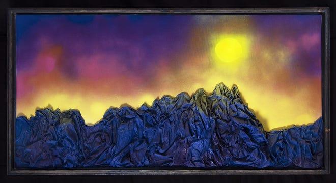 """Organs,"" acrylic spray paint on canvas by Kayla Blundell"