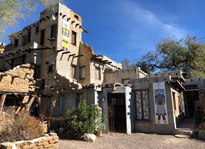The building of the Cabot Pueblo Museum began in 1941.