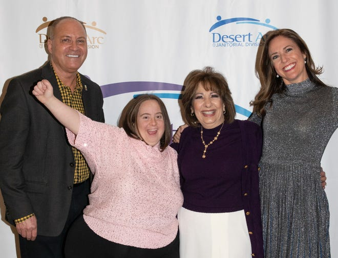 Brooke Beare (right) poses with Glenn Miller, City of Indio Council Member and Desert Arc board member; Victoria, a Desert Arc client; and Renee Griffin, Victoria's mother.