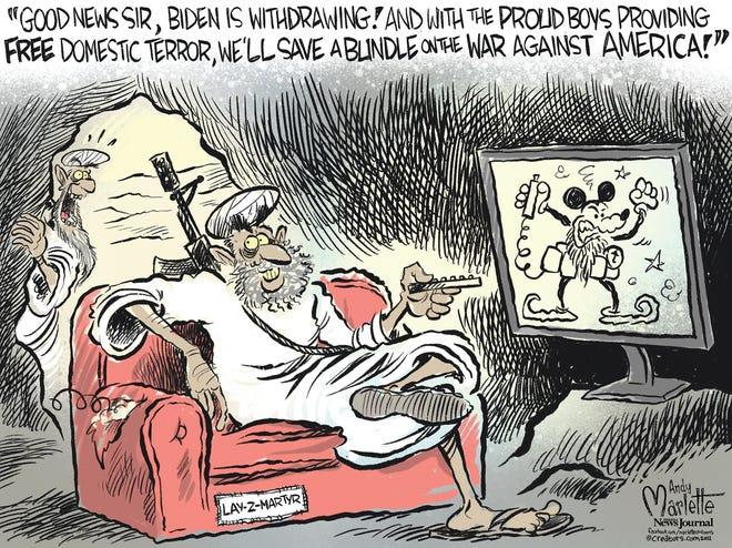 Marlette cartoon: Biden withdrawing from Afghanistan