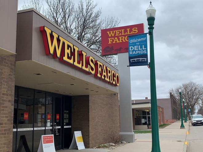 The Wells Fargo branch in Dell Rapids is scheduled to close at noon on July 14.