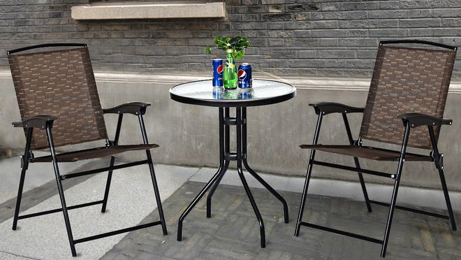 This three-piece patio furniture set is budget-friendly.