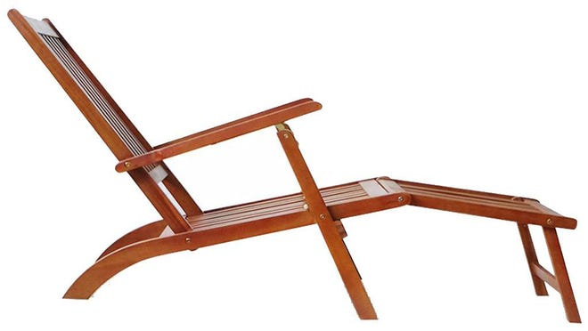 This Goodworld lounge chair is foldable, making it easy to store in rough conditions.