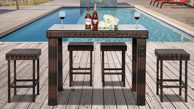 Walmart has patio furniture for all types of outdoor spaces on sale for spring right now.