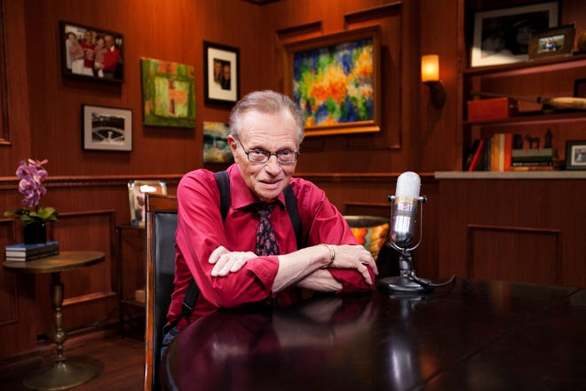 Talk show host Larry King, who died in January, was honored during an in memoriam tribute at the CBS Daytime Emmy Awards ceremony Friday. He won an Emmy, too.
