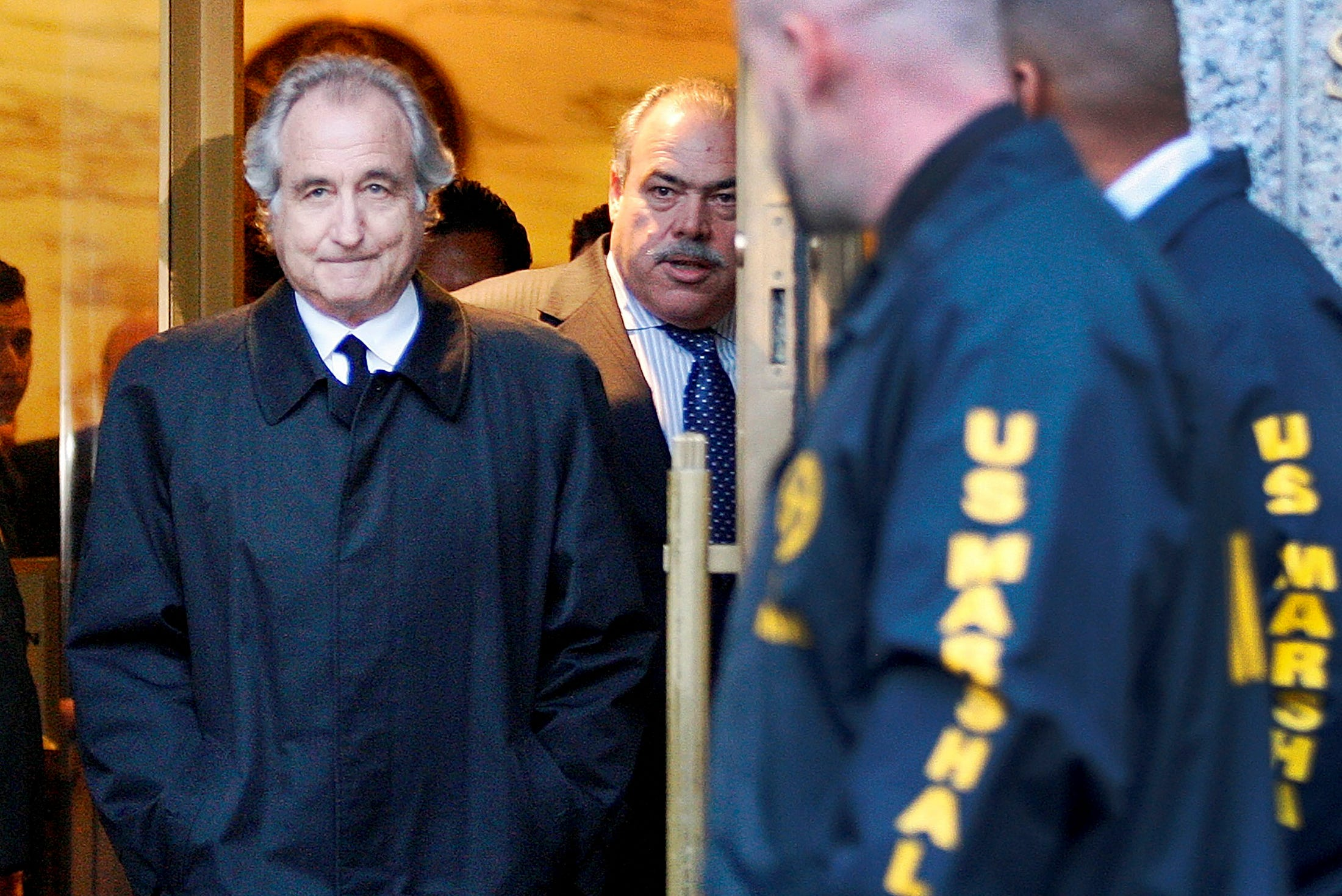 Who are some of the celebrities scammed in Bernie Madoff's Ponzi scheme?