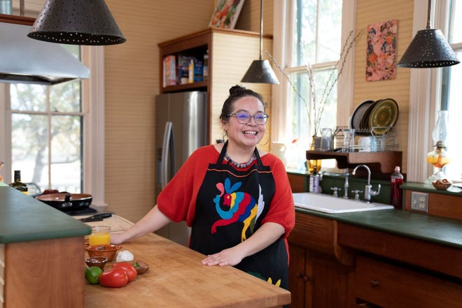 "Vianney Rodriguez is the host of the new cooking show on YouTube called ""Tex-Mex Queen,"" which was filmed in Austin last year."