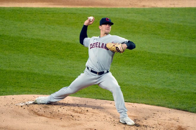 Cleveland starting pitcher Zach Plesac had what he called his toughest game, getting only two outs and giving up six runs in an 8-0 loss to the Chicago White Sox on Wednesday night. [David Banks/Associated Press]