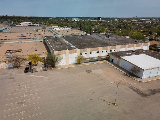 Aerial view of the JC Penney building property, the future home of the Amarillo College First Responders Academy, located along Plains Blvd.