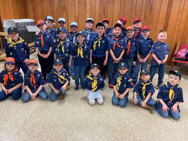 Pictured are members of Cub Scouts Pack 71 that completed at the 2021 Pinewood Derby. They are, l to r, front row, Elizabeth, Zane, Ryker, Vera, Cooper, Kolton, Jacob; second row, Dylan, E.J., Axel, Everett, Brooks, Dae'Mar, Deklan, Greyson, Carter; and third row, Jonathan, Talen, Noah, Abel, Austin, Liam, Treyson