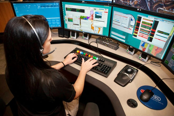 An emergency operator works at Boone County Joint Communications. Dispatchers are being celebrated this week as part of National Public Safety Telecommunicators Week.
