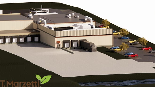 T. Marzetti Co. is expanding its Frank Road plant, shown in this rendering.