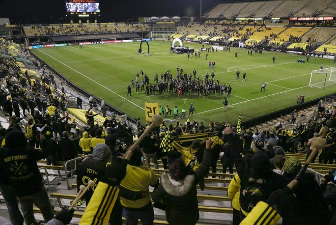 Fans didn't have many opportunities to cheer in person for the Columbus Crew last season due to the pandemic, but a limited number were able to watch the team win the MLS Cup in December. Now fans are excited - and emotional - about the team's last home opener in Historic Crew Stadium.