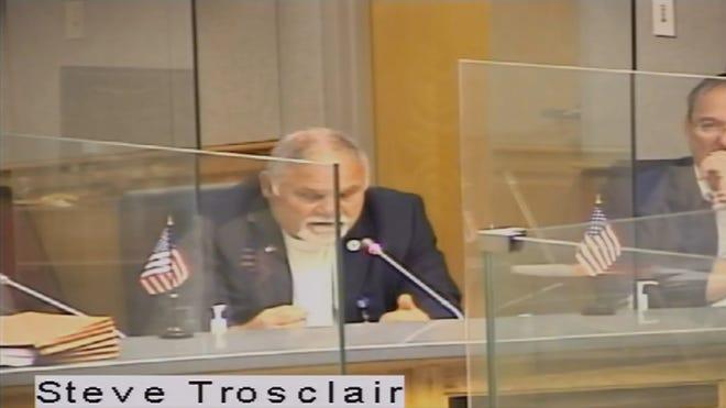Terrebonne Parish Council Member Steve Trosclair speaks against implementing a moratorium on rec districts in the parish.