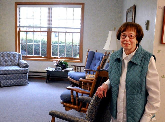 Mary Alice Streeter in the waiting room at the Raiology building in Wooster.