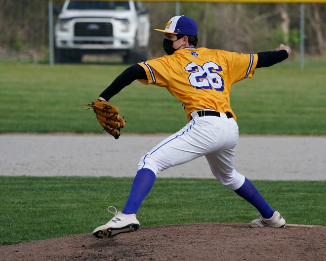 Madison's Miles Frank delivers a pitch during Wednesday's game against Morenci.