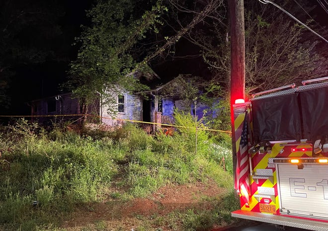 A house in the 500 block of Cotton Grove Road caught fire on Wednesday.