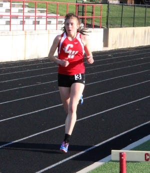 Coldwater's Legend Szafranski dominated the field in the 800 meter run Wednesday on her way to the victory.