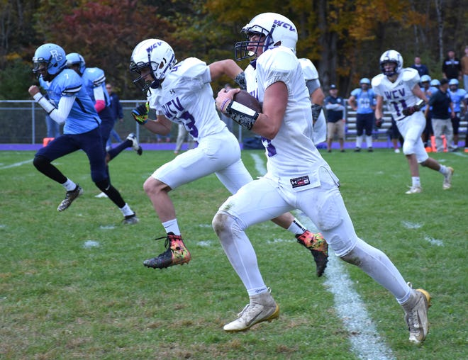 With their return to 11-player football during Herkimer County's Fall II football season, the West Canada Valley Indians may find tighter running lanes than Connor Lynch had in this Saturday, Oct. 12, 2019, eight-player game against Syracuse-Bishop Grimes.