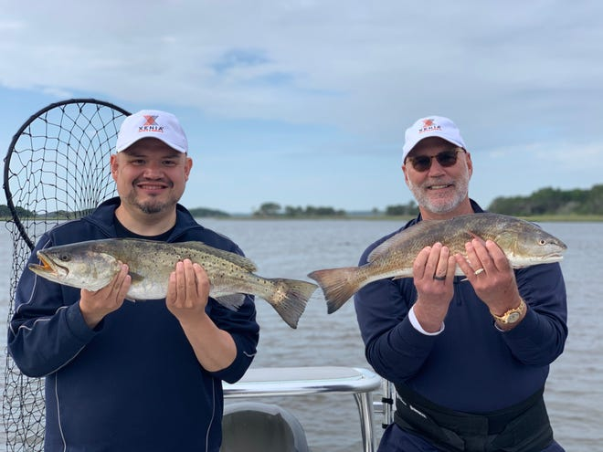 Capt. Leon Dana loves when his clients catch trout that are bigger than the slot redfish.