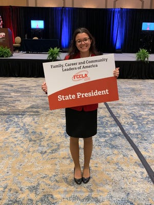 Glen Rose's Caroline Davis was elected Texas FCCLA State President at the state leadership convention last week.