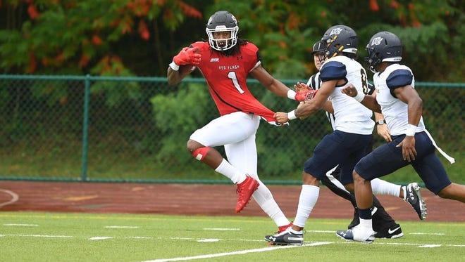 South Carolina transfer wide receiver E.J. Jenkins began his career at FCS program Saint Francis University (Saint Francis Athletics photo)
