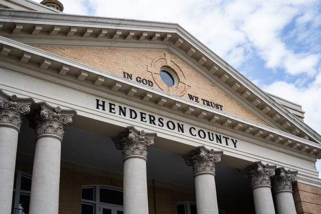 The Historic Henderson County Courthouse on Thursday, April 15, 2021.