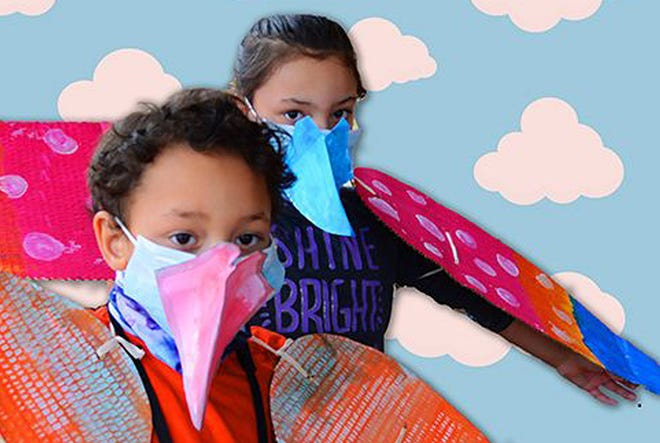 Children will be able to decorate and wear a set of wings to be part of World Migratory Bird Day to be held May 8 at Taylor Park in Freeport.
