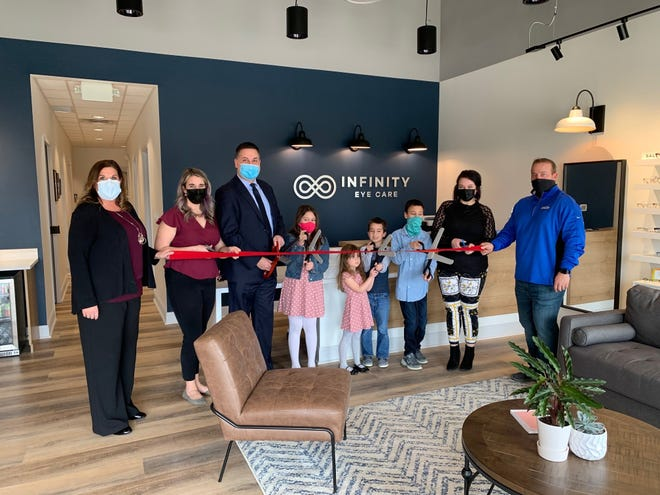 There was a ribbon cutting ceremony in March to mark the opening of Infinity Eye Care, which opened in January. Dr. Ryan McKinnis and his wife Heather opened the eye care center.