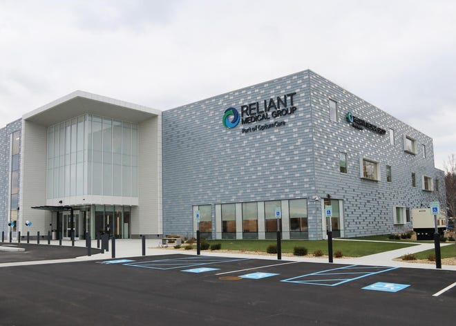 The exterior of Reliant Medical Group's 68,000-square-foot medical office at 225 New Lancaster Road (Route 117) in Leominster, which combined and replaced Reliant's former sites in Leominster and Fitchburg.