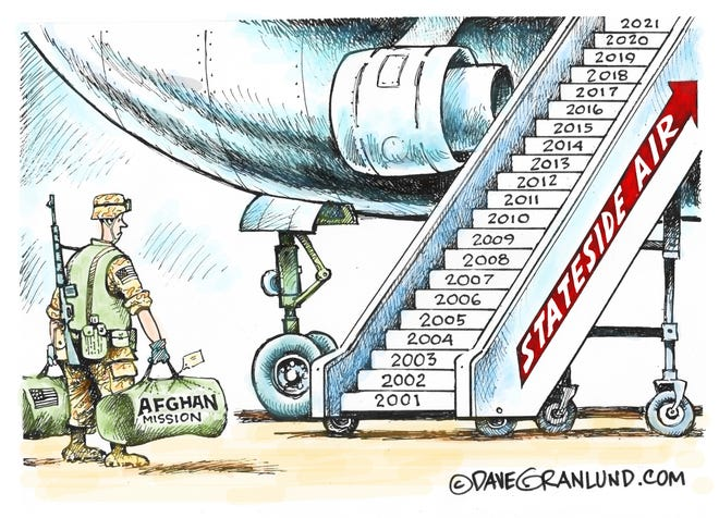 Dave Granlund cartoon on Afghanistan exit date