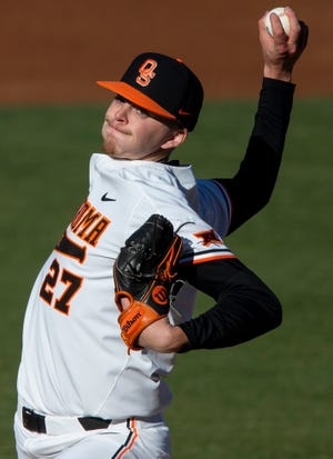 Oklahoma State's Justin Campbell had 11 strikeouts Saturday in a no-hitter against Kansas.