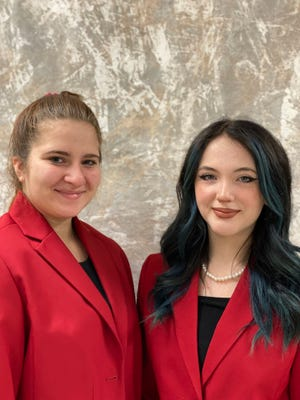 Brittney McConnell and Kaylin Stutsman Wilken will be advancing in their category of chapter community service. They earned a gold medal on the state level with the Mountainburg FCCLA.