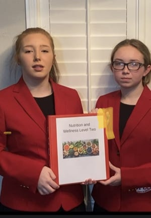 Alexis Turner and Cassidy Turner are advancing to nationals in their category of nutrition and wellness. They earned gold medals on the state level with the Mountainburg FCCLA.