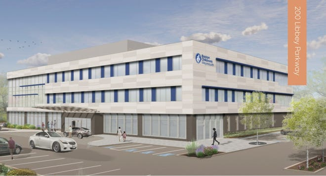 Rendering of the new medical building FoxRock will build at 200 Libbey Parkway.