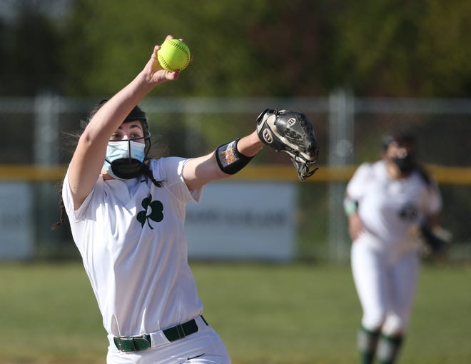 Sheldon's Molly Blanchette, left, pitches against South Eugene during their game Wednesday.