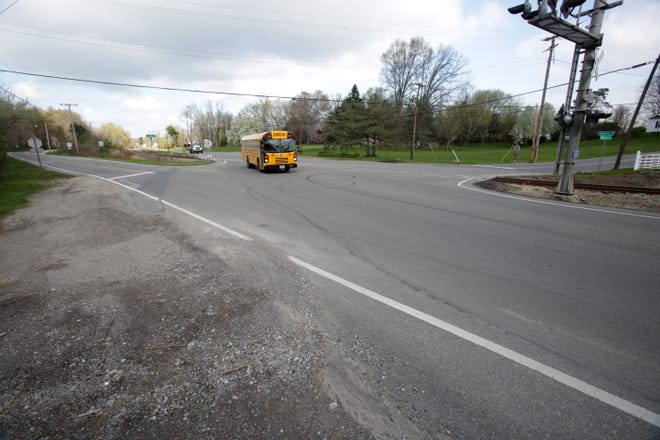 """The intersection of Pigeon Run, U.S. Route 62, and Justus Avenue SW near Fairless High School is one of several areas that are being targeted for improvement in the Stark County Area Transportation Study's """"Moving Stark Forward 2050"""" report."""