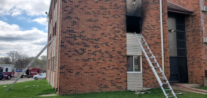 A child was injured during a fire at Concord Commons Apartments, 300 Cameron Ave., on Thursday, April 15, 2021, in Rockford.